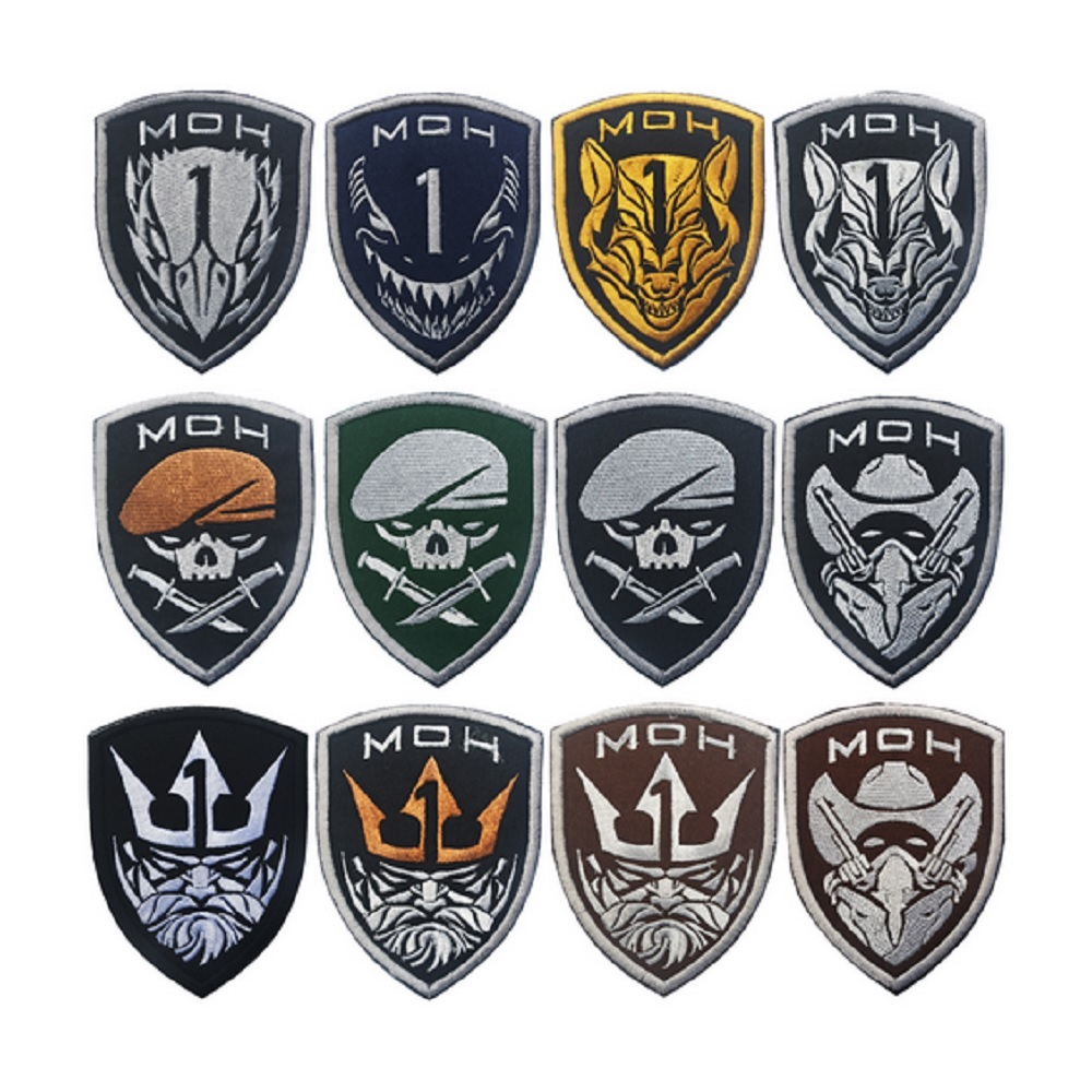 Parches de bordado 100% de alta calidad en 3D bucles y gancho MOH parche brazalete Project Honor patch Medal of Honor parches badge