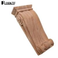 RUNBAZEF Vintage Wood Carved Decal Corner Applique Frame for Home Furniture Wall Cabinet Door Decorative Miniature Craft