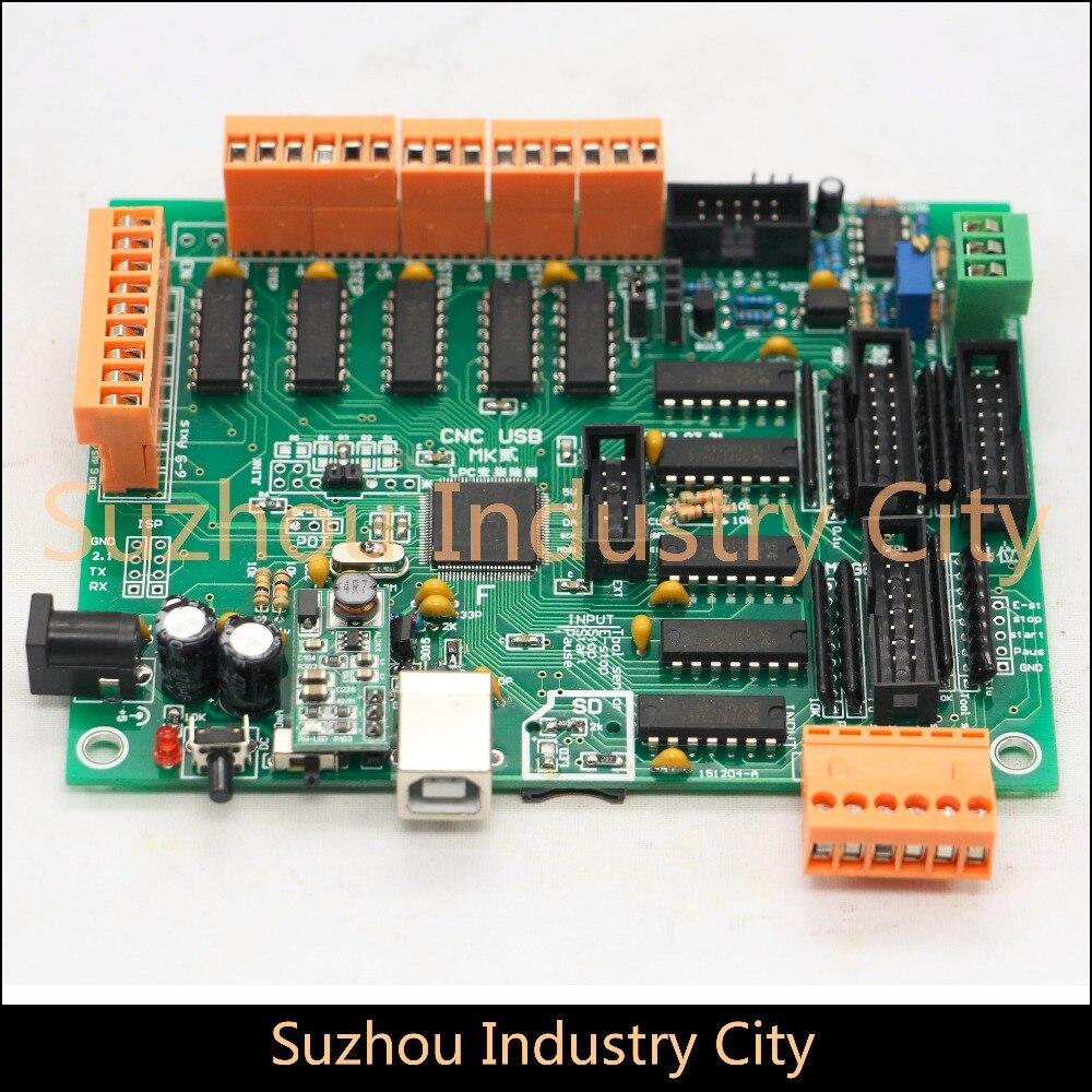 3 Axis 4 Axis 5 Axis USBCNC Controller CNC USB Interface Board  DIY MK2 100kHz  Multi-axis multifunctional control board александр мазин герой