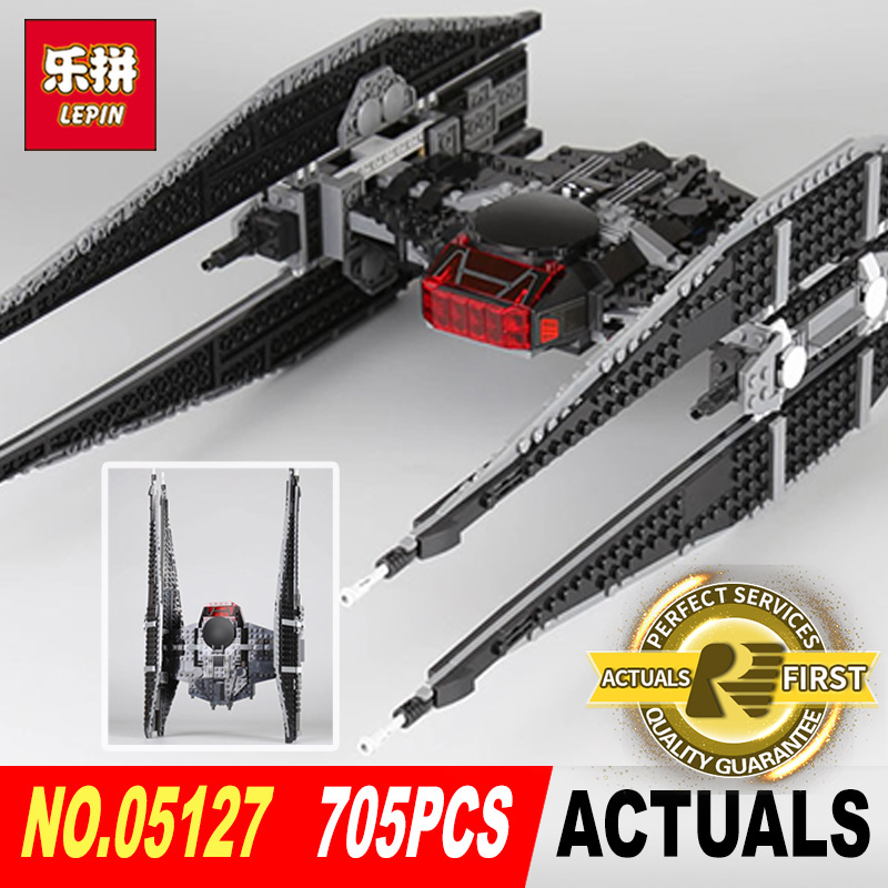 lepin 05127 STAR classic toys Kylo Ren tie fighter first order starship model building blocks bricks toys LegoINGlys 75179 WARS lepin 05127 705pcs star plan series the 75179 tie model fighter set building blocks bricks educational kids toys christmas gifts