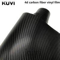 Размер: 1,52x28 м 4D виниловая пленка из углеродного волокна, водонепроницаемая пленка DIY с розничной упаковкой, наклейка на мотоцикл