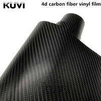 Size:1.52x28m 4D Carbon Fiber Vinyl Film Sticker Waterproof DIY Wrap With Retail packaging Motorcycle Sticker