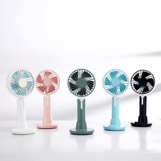 Mini fan usb charging three speed wind office desktop mute small fan outdoor portable usb handheld fan
