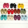 EMS DHL Free ship 2015 new Leather Baby Moccasins baby Bow Tie girl First Walkers fringe Toddler Shoes 10pair/lot soft mocassin