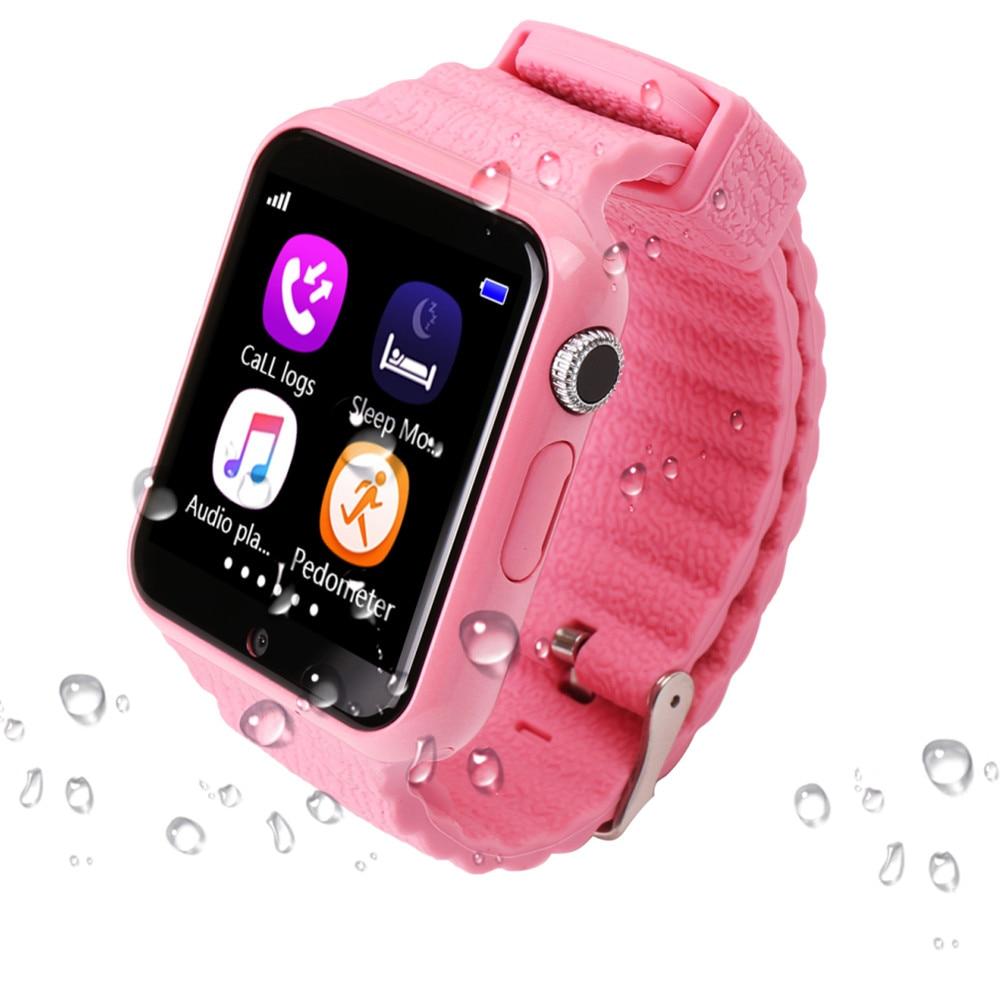 Купить с кэшбэком Original V7K GPS Bluetooth Smart Watch for Kids Boy Girl Apple Android Phone Support SIM /TF Dial Call and Push Message