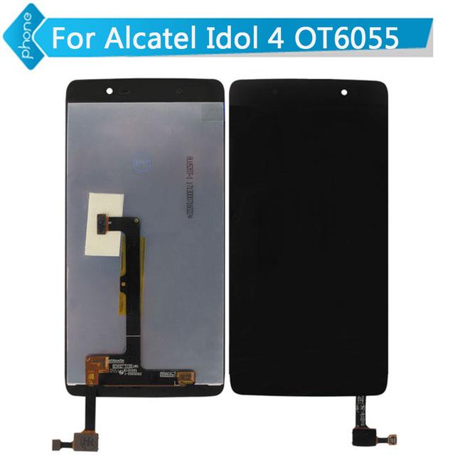 Para alcatel one touch idol 4 6055 ot6055 pantalla lcd táctil digitalizador asamblea