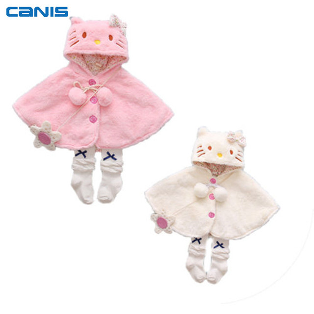 2d3aab009a08 Adorable Infant Newborn Toddler Baby Kids Girls Fur Hooded Cat Coat ...