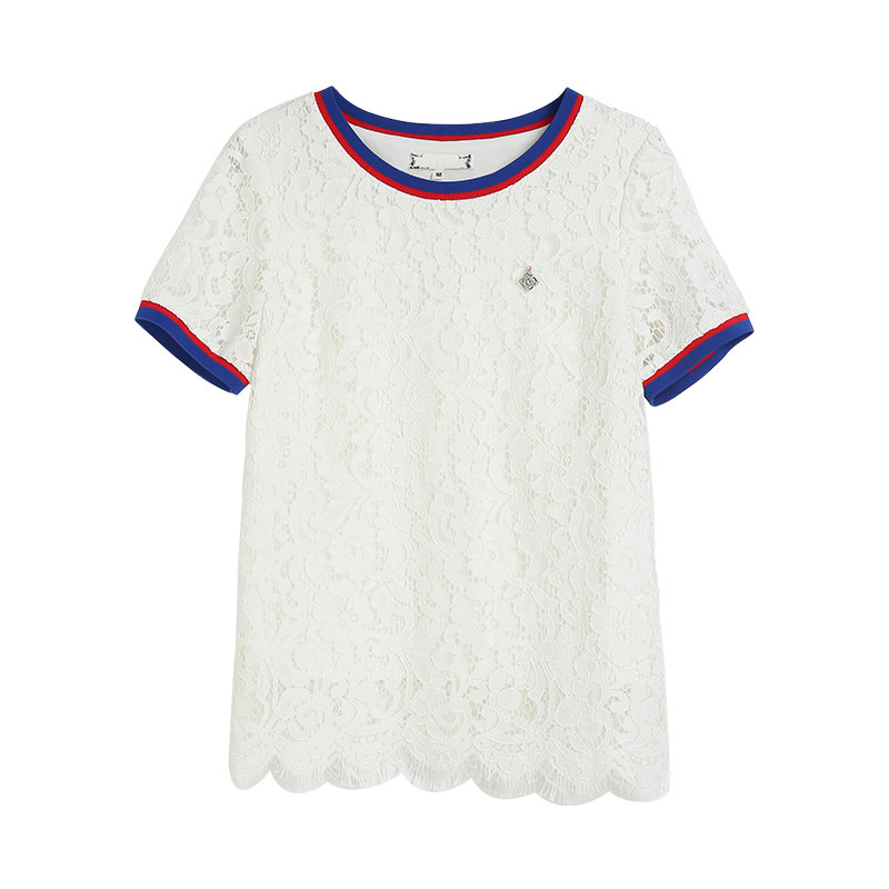 Della 3xl Camicette Pezzo Delle Formato Lace Ouyalin L Set Magliette Twinset Shorts 2 White 2018 Donne 5xl 4xl Più Il Bianco E Signora 5qOwvHq