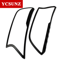 2016 2018 For Ford Ranger ABS Black Headlight Covers Surrounds Trim Suitable Ford Ranger Wildtrak T7