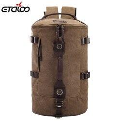 حقيبة سفر للرجال بسعة كبيرة حقيبة ظهر لتسلق الجبال للرجال حقيبة ظهر من القماش على شكل دلو وكتف 012