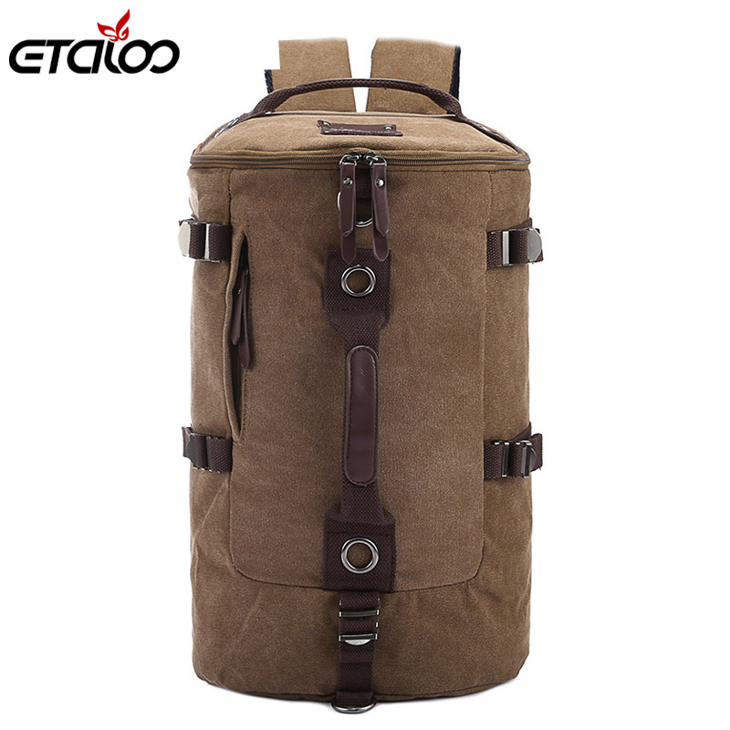 Large Capacity Man Travel Bag Mountaineering Backpack Men Bags Canvas Bucket Shoulder Backpack 012 стоимость