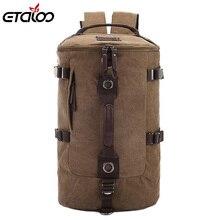 Mochila de grande capacidade montanhismo, masculina sacos de lona balde, ombro, mochila 012