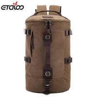 Mochila de viaje de gran capacidad para hombre, mochila de montañismo, mochila de lona para hombre, mochila de hombro 012