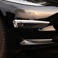 Meu bom carro de aço inoxidável faróis decorativos lantejoulas faróis sobrancelhas remendos decorativos para tesla modelo 3 acessórios|Adesivos para carro| |  -