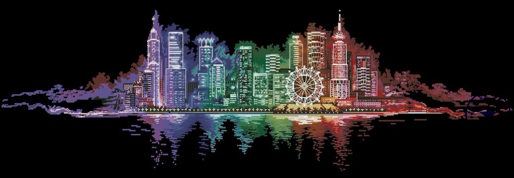 Top-Quality-Beautiful-Lovely-Counted-Cross-Stitch-Kit-Night-City-Light-.jpg