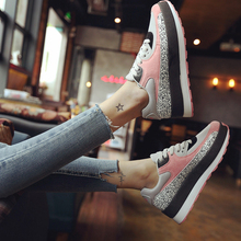 2016 New Fashion Women's Mesh Casual Shoes Lace-up Platform Flat Shoe Hot Spring Autumn Womens Trainers Breathable Canvas Flats