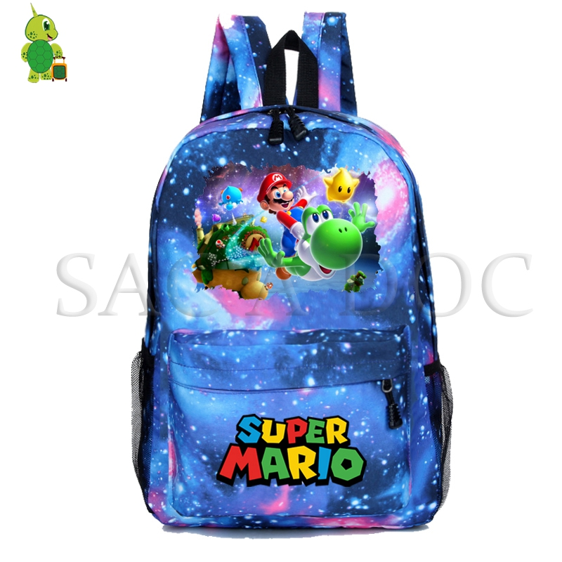 Super Mario Yoshi Backpack School Bags for Teenager Girls Boys Galaxy Space Daily Mochila Laptop Backpack Casual Travel BagsSuper Mario Yoshi Backpack School Bags for Teenager Girls Boys Galaxy Space Daily Mochila Laptop Backpack Casual Travel Bags