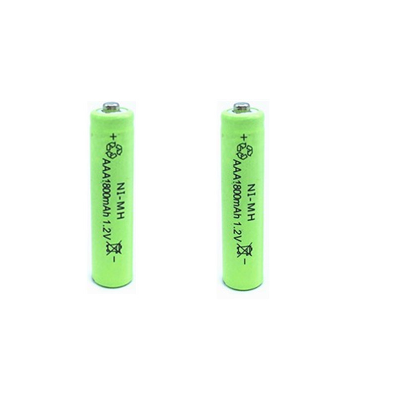 2 or 4PCS AAA 1 2V 1800mAh Rechargeable NiMH Battery Free shipping to Russian Federation in Replacement Batteries from Consumer Electronics