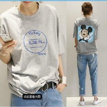 Mickey Cartoon Print Summer Women T-Shirt