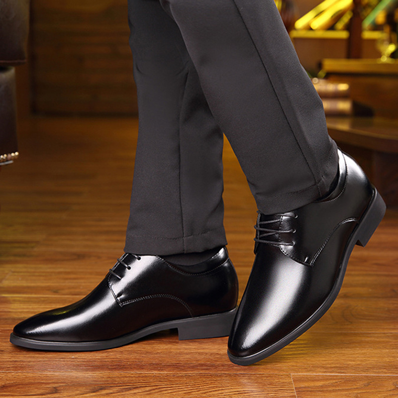 Pointed Toe office men dress shoes fashion black classic leather formal shoes men designer business oxford wedding shoes NET626 new 2018 fashion men dress shoes genuine leather pointed toe male wedding shoes autumn men office formal shoes yj a0029