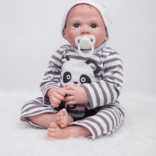 556beb9013597 Reborn Baby Doll En vinyle Souple En Silicone 22 pouces 55 cm Belle Réaliste  Mignon Bébé
