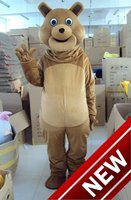 2018 New Bear Mascot Costume Adult Size Halloween Outfit Fancy Dress Suit Free Shipping