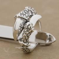 925 Sterling Silver Dragon Claw Free Size 9~11 Mens Biker Rocker Ring 9K024
