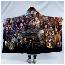 Plstar Cosmos Game of Thrones Blanket  Hooded 3D full print Wearable Adults men women style6