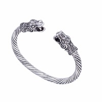 Viking Jewelry Antique Silver Or Gold Plated Dragon Viking Bangle Carter Love Bracelet Mammen Pagan Jewellery