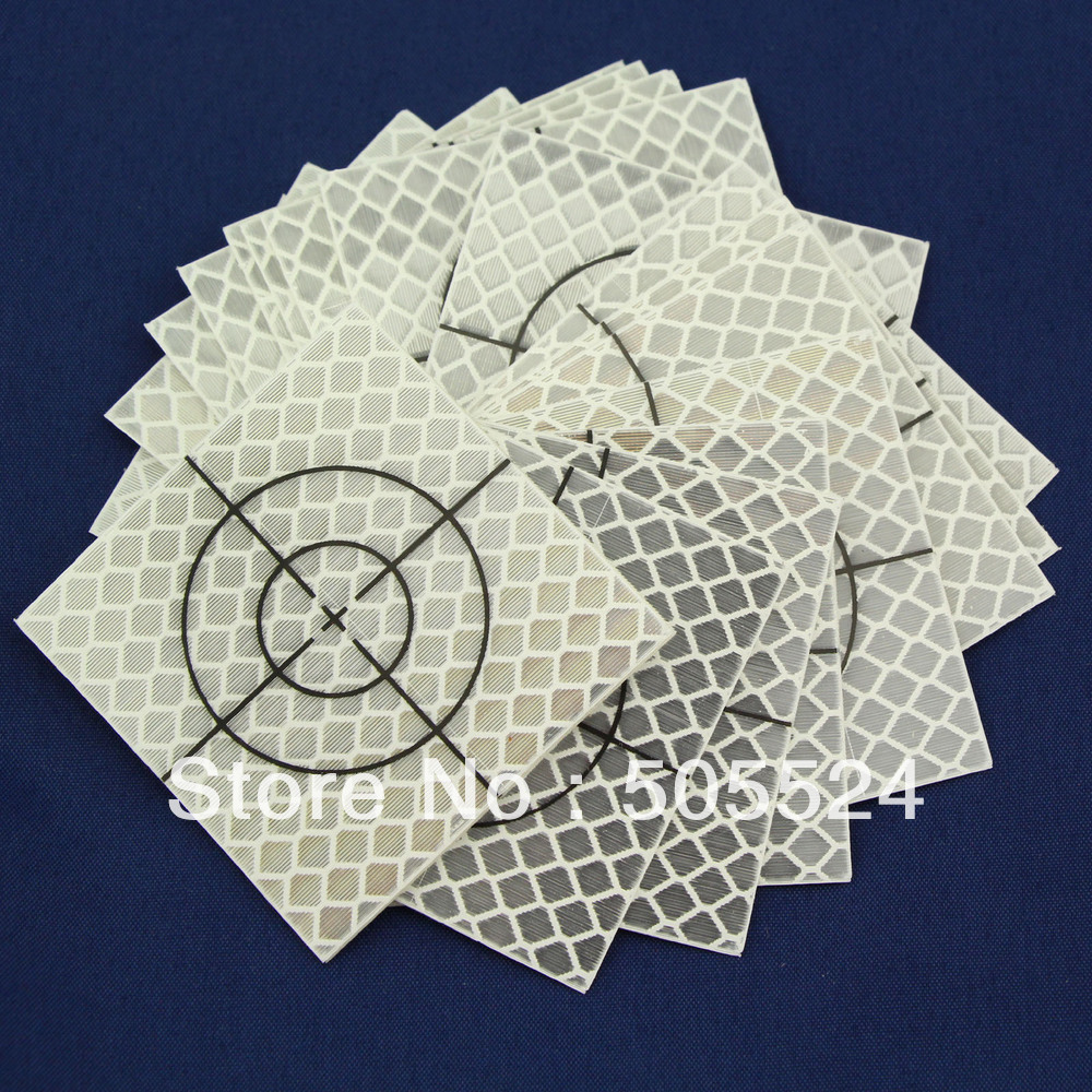 20pcs Reflector Sheet 60 x 60 mm ( 60x60 ) Reflective tape target total station ...