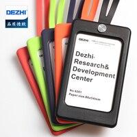 DEZHI, карамельный цвет, силикагель, ID держатель для карт, с мягким шейным ремешком, для офисных пропусков, логотип, индивидуальный держатель д...