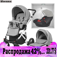 Shenma baby stroller 2 in 1 3 in 1 can sit lying double sided shock absorber folding portable newborn aluminum frame multifuncti