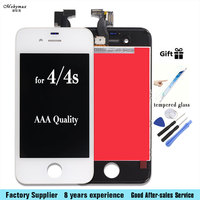 LCD Screen For IPhone 4 4S Display Replacement Touch Screen Digitizer Assembly With Tool Kits
