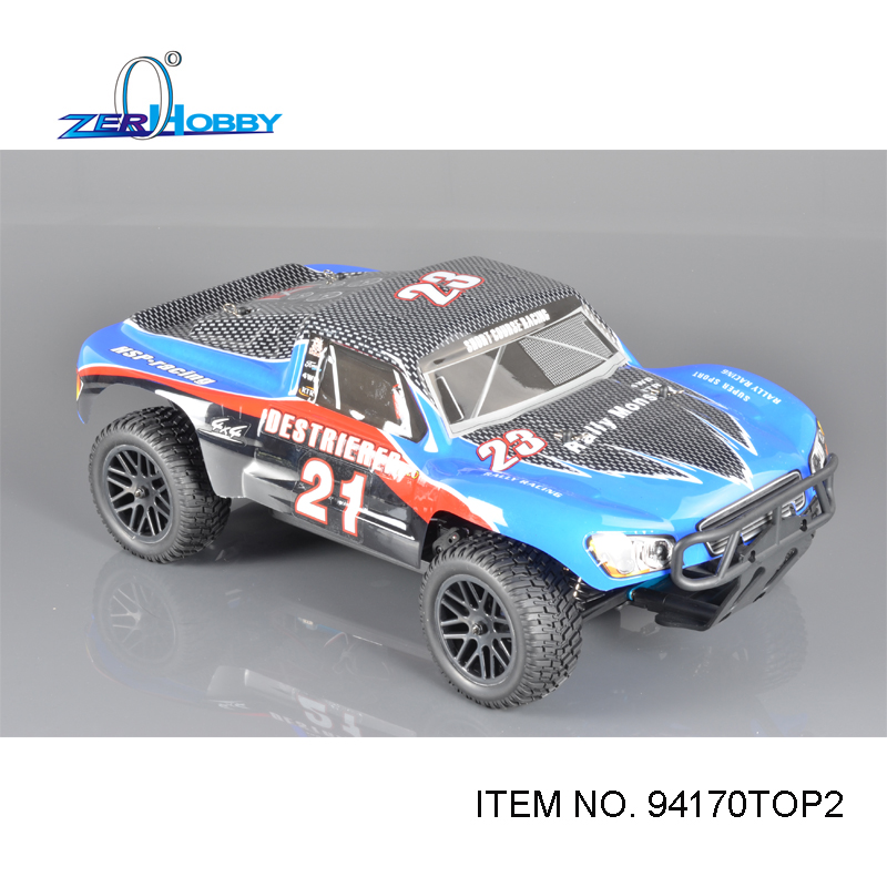 Rc Car HSP 1/10 Brushless EP R/C 4WD Off Road Rally Short Course Truck RTR Similar REDCAT HIMOTO Racing (item no 94170TOP) 02023 clutch bell double gears 19t 24t for rc hsp 1 10th 4wd on road off road car truck silver