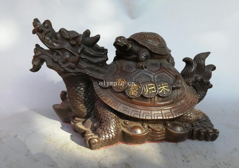 16 bronze folk home fengshui wealth auspicious beast Dragon Turtle tortoise16 bronze folk home fengshui wealth auspicious beast Dragon Turtle tortoise