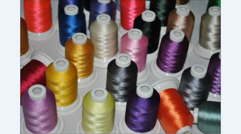 Free shipping high quality 61 Brother colors machine polyester embroidery thread+1000m/mini king spool + 15pcs A plastic bobbin-in Thread from Home & Garden    3