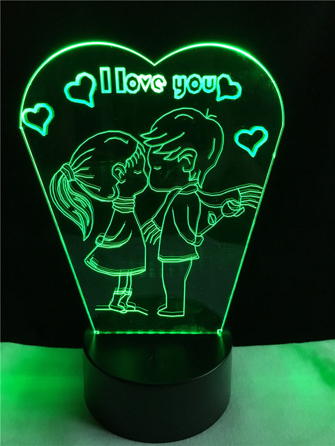 3D LED Hologram – Nočné svetlo – Kids