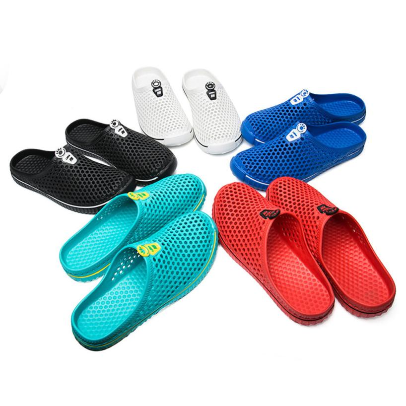 Men Shoes Unisex Summer Hollow Slippers
