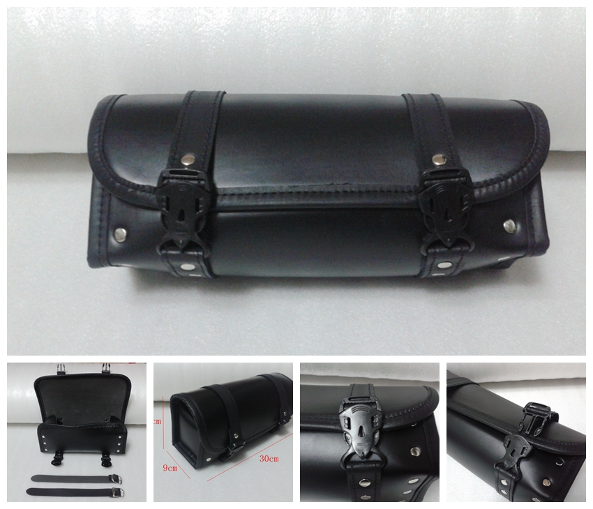 The new 2016 arrival saddle bag for cruise motorcycle Prince hemming box bags on the back of the motor