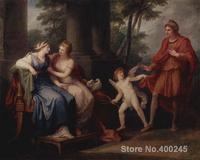 Портрет Картины Венера убеждает Хелен услышать Париж Angelica Кауфман холсте Ручная роспись высокое качество