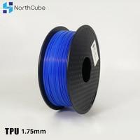 3D Printing Filament TPU Flexible Filament TPU Flex Plastic for 3D Printer 1.75mm 1KG 3D Printing Materials Blue