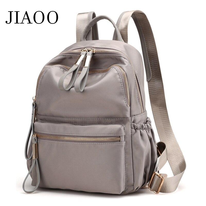 Jiaoo coreano senhoras mochila de viagem casual moda mochila feminina lazer voltar sacos para a escola adolescente meninas bagpack