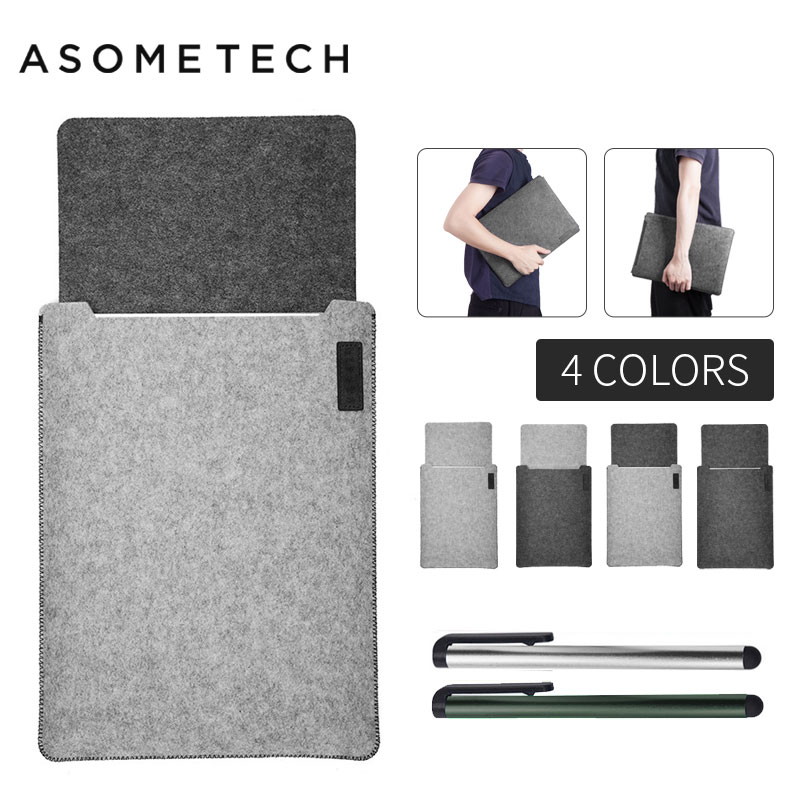 Ultra Soft Sleeve Laptop Bag Case For Apple Macbook Air Pro Retina 11 12 13 Laptop Stratches proof Cover For Mac book 13.3