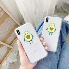 FD New Luxury TPU Soft For Iphone Applicable Xsmax Simple IPhone Xr Xs 8 Plus Anti-Fall 7 Transparent 6s Love avocado Phone Case baseus simple tpu case for iphone 7 plus transparent