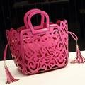 2017 Новая Европа Женщины Кожаная Сумочка Мода Выдалбливают Дизайнер Известный Бренд Женской Сумки Lady Vintage сумка LJ148