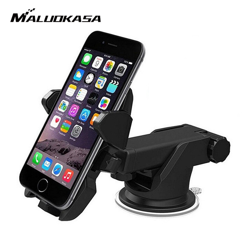 MALUOKASA Car Phone Holder GPS Suction Mount Stand Auto Dashboard Windshield Mobile Cell Phone Retractable Mount Stand Holder windshield dashboard car holder phone stand with sucker adjustable easy installation