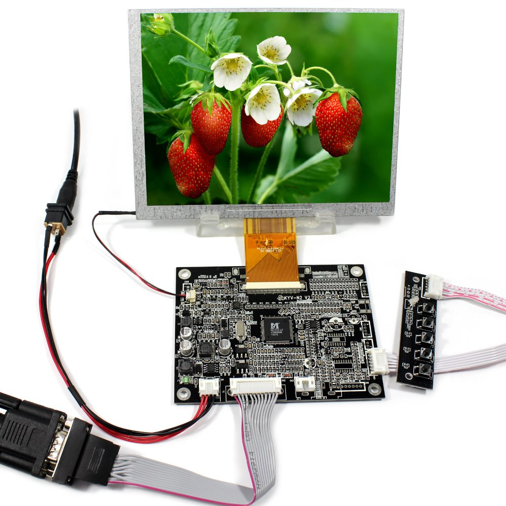 VGA LCD Controller Board KYV-N2 V2+7 800x600 A070SN02 LCD Screen fpc8688w v2 c lcd displays screen