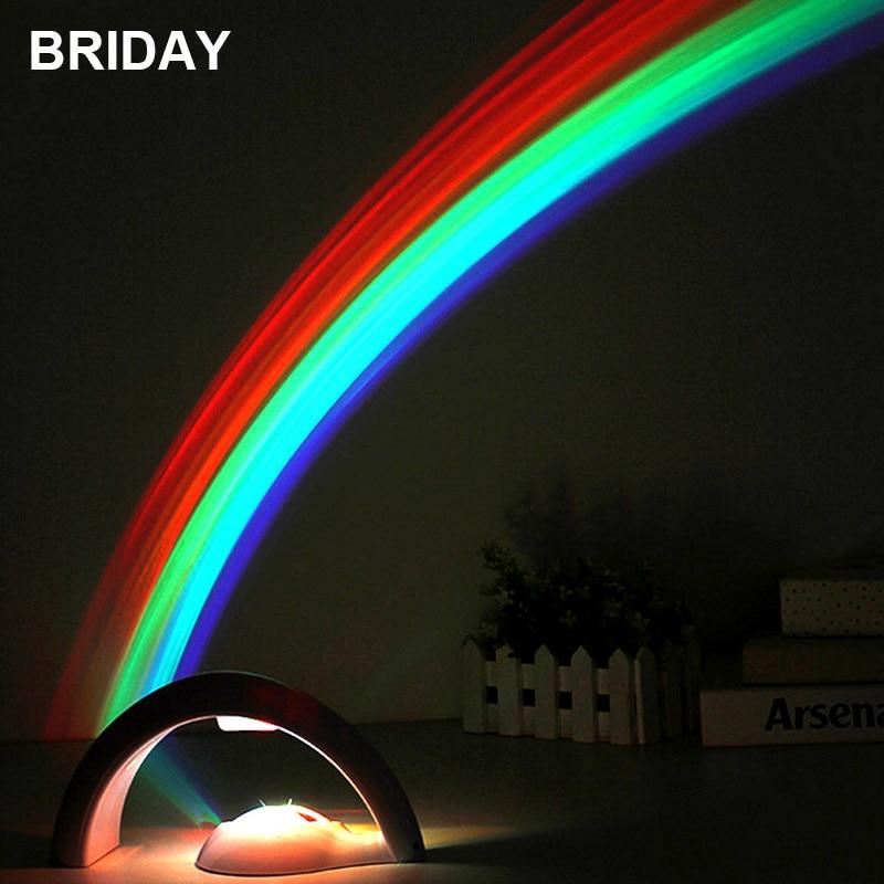 Night Light for Children Kids Baby Sleeping Romantic Rainbow Night Light Projector Lamp Atmosphere Novelty Bedroom Decoration