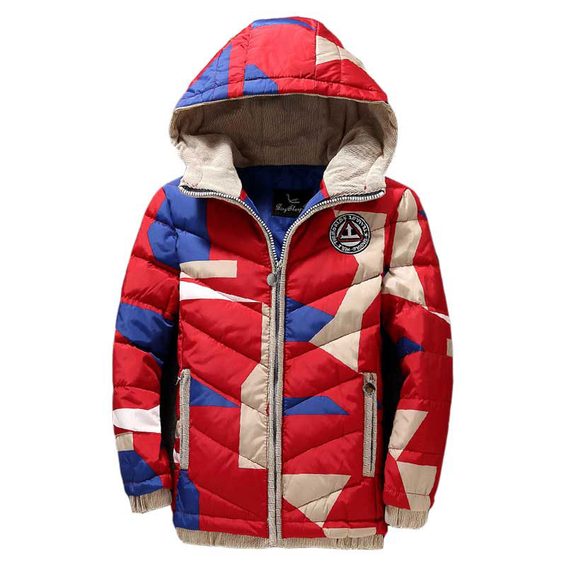 5-9T Children Jackets Boys Girls Winter Down Coat Baby Winter Coat Kids Warm Outerwear Hooded Coat Snowsuit Overcoat Clothes button tab cuffs hooded belted coat