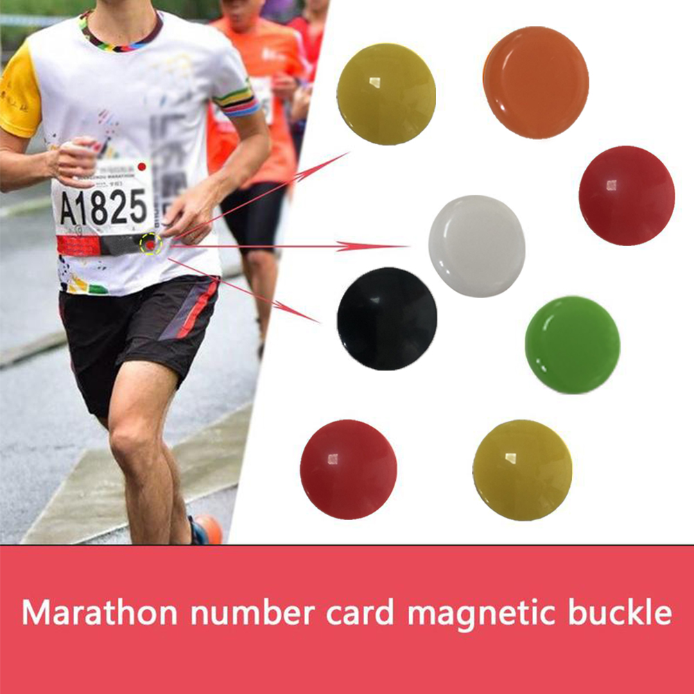 4Pcs Sports Number Belt Colorful Fixed Magnetic Triathlon Portable Fasteners Running Outdoor Clip Cloth Buckle Bag Bib